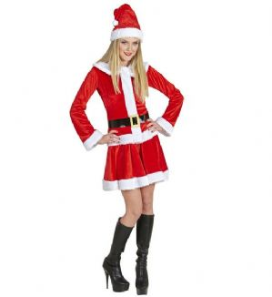 Old Time Miss Santa deluxe plus size costume